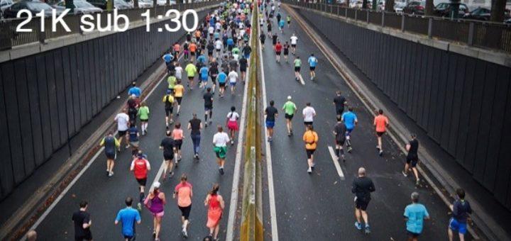 plan para correr media maraton en 1.30