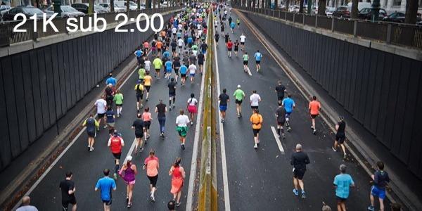 medio maraton 21k sub 2 horas