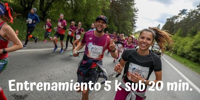 carrera 5k sub 20 min